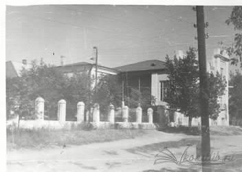 Дом Рубцова, 1961 г. Вид на парадный вход с ул. Красноармейской