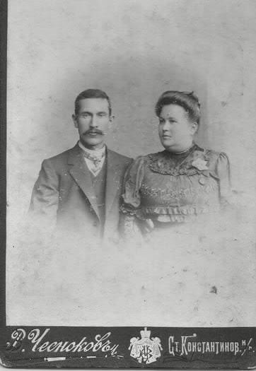 Рубцов Ф.С. с женой Полиной