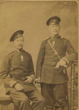 Рубцов Ф.С. во время прохождения службы в драгунском полку Императорской Армии